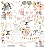 Marry Me Die Cuts 12x12 skräppipaperi