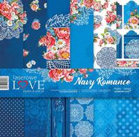 Navy Romance 12 x 12  - paperikokoelma