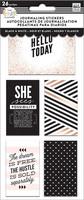 MAMBI The Happy Planner Journaling (flip) Stickers - Black & White