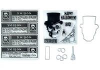 Tim Holtz Framelits with stamps & Texture Fades: Mr Bones