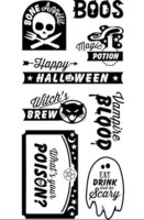 Halloween Clear stamps: Happy Halloween  - leimasinsetti