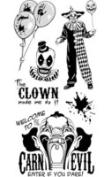 Halloween Clear stamps: Creepy Clowns  - leimasinsetti