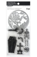 Halloween stamps & dies: Graveyard & Coffin  -setti