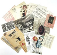 Halloween Book Pages Ephemera