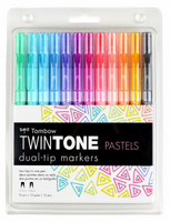 Tombow Twintone Dual-Tip Markers: Pastels - tussipakkaus