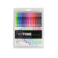 Tombow Twintone Dual-Tip Markers: Brights - tussipakkaus
