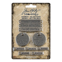 Tim Holtz Idea-ology: Adornments Halloween Words