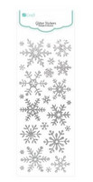 Glitter Stickers: Silver Snowflakes - tarrapakkaus