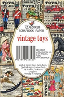 Decorer: Vintage Toys - minipaperisetti