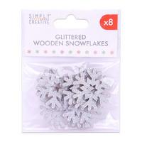 Simply Creative Glittered Wooden Snowflakes - koristepakkaus