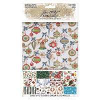 Tim Holtz Worn Wallpaper Christmas 2019 5 x 8 - paperisetti