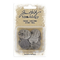 Tim Holtz Idea-ology Adornments: Christmas Tokens - metallikoristeet