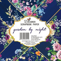Decorer: Garden By Night 8x8 - paperikokoelma