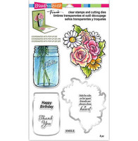 Clear Stamps & Cutting Dies: Mason Jar + Make It Pop Cutting Dies - tuplapaketti