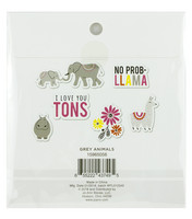 Park Lane Paperie Washi Flakes Stickers: Grey Animals