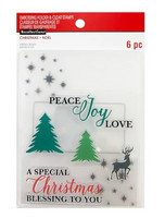 Recollections Christmas Noel: Peace Joy Love  -setti