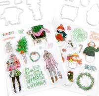 Recollections: Christmas Clear Stamp & Die Set