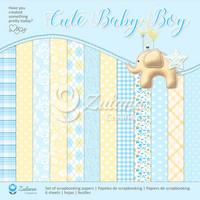 Zulana Creations: Cute Baby Boy 12x12 - paperikokoelma