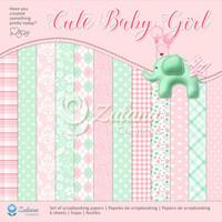 Zulana Creations: Cute Baby Girl 12x12 - paperikokoelma