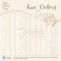 Zulana Creations: True Colors Beige 12x12 - paperikokoelma