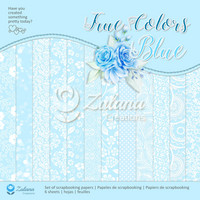 Zulana Creations: True Colors Blue 12x12 - paperikokoelma