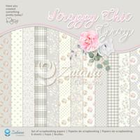 Zulana Creations: Scrappy Chic Gray 12x12 - paperikokoelma