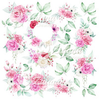 Zulana Creations: Rose Garden 12x12 - paperikokoelma