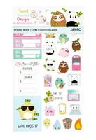 Sweet Kawaii Design Sticker Book: Budget 2 - tarrakirja
