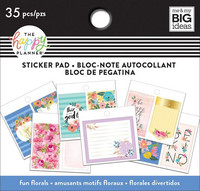 MAMBI Happy Planner Classic Tiny Sticker Pad - Fun Florals