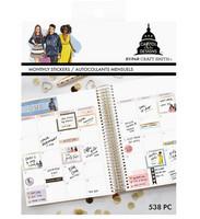 Capitol Chic Design Monthly Sticker Book: Bold - tarrakirja