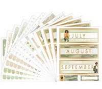 Capitol Chic Design Monthly Sticker Book: Camo - tarrakirja