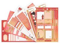 Capitol Chic Designs Weekly Sticker Kit: Red & Orange - tarrakirja