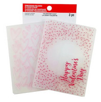 Recollections Valentine Clear Stamp & Embossing Folders 2020 : Happy Valentines Day  -setti