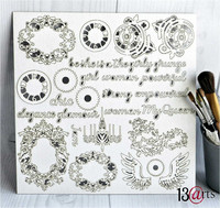 13arts Chipboard : Victoriana 12x12   - chipboardkuvioarkki