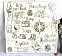 13arts Chipboard : Travel The World 12x12   - chipboardkuvioarkki