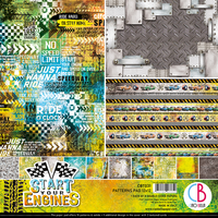 Ciao Bella Double-Sided Patterns Pad : Start Your Engines