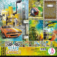 Ciao Bella Scrapbooking Paper Pad : Start Your Engines