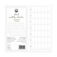 P13: Traveler's Journal Blank Monthly Calendar Cards