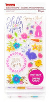 Craft Smart Clear stamps: Hello Spring  - leimasinsetti