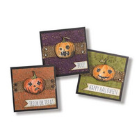 Tim Holtz Framelits with stamps & Texture Fades: Jack-O-Lantern