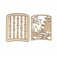 Spellbinders: Reindeer Prance Layering Set - stanssisetti