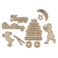 Spellbinders: Sending A Happy Birthday- stanssisetti