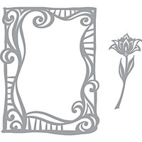 Spellbinders: Swirl Frame- stanssisetti