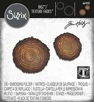 Sizzix Bigz Texture Fades: Mini Tree Rings -setti