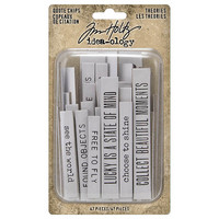 Tim Holtz Idea-ology: Quote Chips Theories