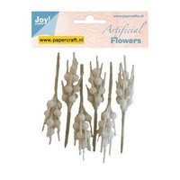 Joy Crafts Artificial Flowers: White 6 kpl