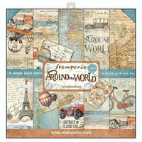 Stamperia: Around The World 12 x 12 paperikokoelma