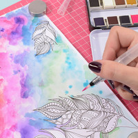 Vaessen Creative: Florence Smooth 200gsm akvarellipaperipakkaus A5 / 100 arkkia