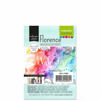 Vaessen Creative: Florence Smooth 200gsm akvarellipaperipakkaus A6 / 100 arkkia