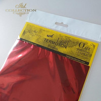 ITD Collection Foil Sheets: Red Termoton